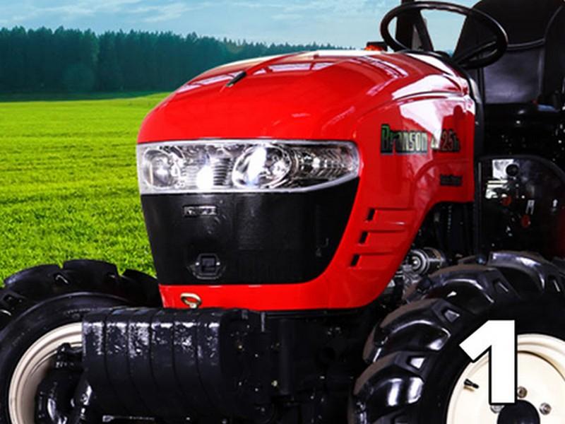 Nový, kompatibilný a atraktívny dizajn s plne plechovou kapotážou traktora a s novým osvetlením